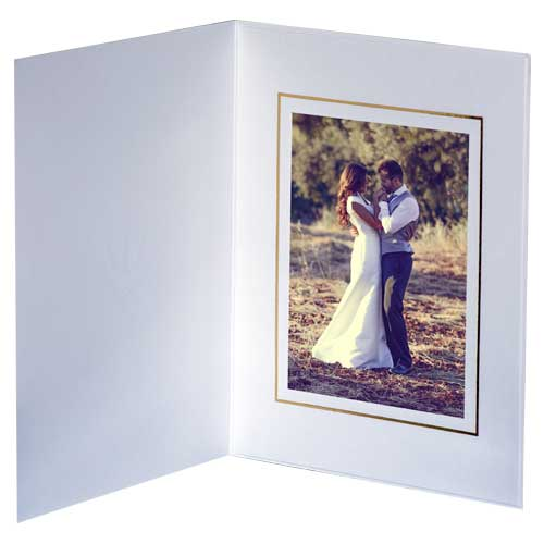 Pearl White and Gold Photo Folders